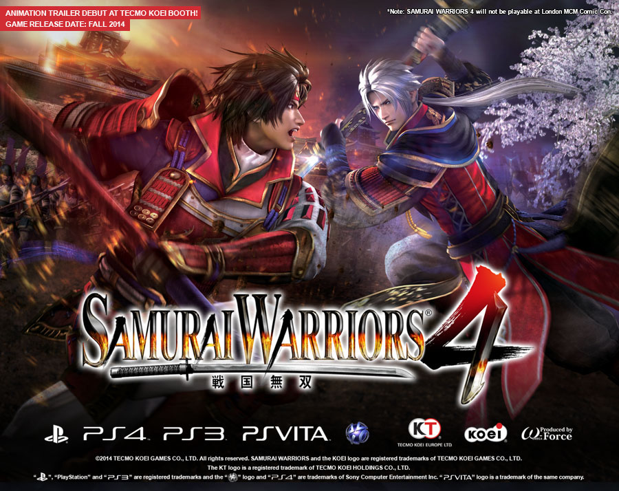 Анонс Samurai Warriors 4 для PS Vita, PS3 и PS4