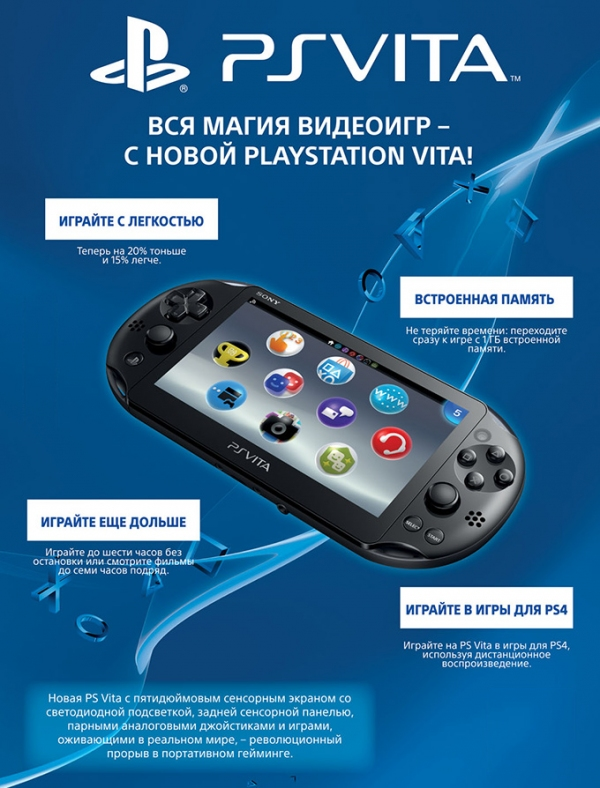 Трейлер PS Vita Slim c Gamescom