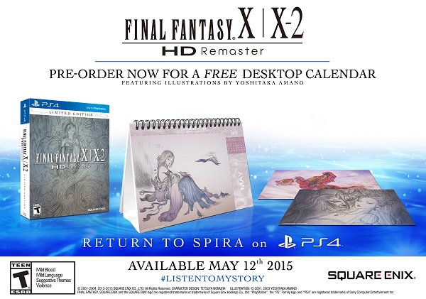 Final Fantasy X/X-2 HD для PlayStation 4 выйдет в Мае