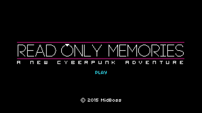 Анонс Read Only Memories