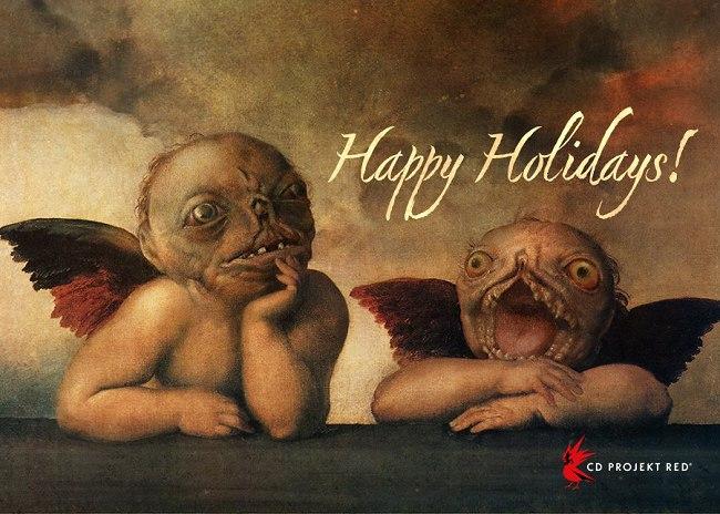 Новогодние открытки от разработчиков PlayStation и не только!